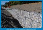 Hot Dipped Galvanized Gabion Box , Welded Gabion Baskets For Riverbed