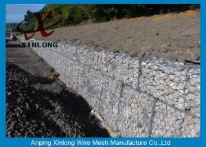 China Hot Dipped Galvanized Gabion Box , Welded Gabion Baskets For Riverbed on sale
