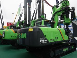 China Hydraulic Piling Rig Machine Hire , 65 KN Main Winch Line Pull Pile Driver Equipment on sale