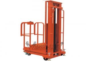 China 200kg Mobile Elevated Work Platform , Semi - Electric Aerial Order Picker on sale