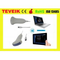 China Portable Medical USB Convex Ultrasound Probe , USB Laptop Ultrasound Transducer work for tablet computer on sale