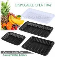PLA plate best selling prodcts, biodegradable PLA dinner plate for restaurant use, pla food box for meat