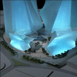 China Crystal Miniature Architectural Model Maker , 3D Crystal Model Building , model making on sale