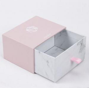 China Pink Color Xmas Cardboard Gift Boxes , Christmas Decorated Boxes For Gift on sale
