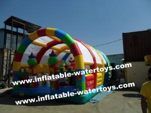 China 0.55mm PVC Tarpaulin Big Inflatable Fun City Hot Sale Inflatable Amusement Park for Kids Guarantee 100%, OEM service on sale