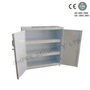 ... Quality Vertical Plastic Solvent Acid / Alkaline Corrosive Storage  Cabinet 2 Fixed Shelves / Dual Door