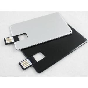 China 2G, 4G, carte de crédit argentée en métal 8G USB conduit des disques d'u avec le logo imprimés (MY-UCM01) on sale