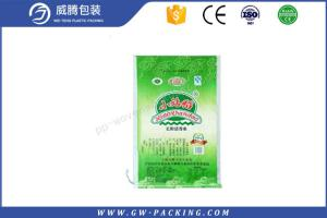China Large White PP Woven Rice Bag 10kg / 15kg Load With PE Liner Vivid Printing Effect on sale