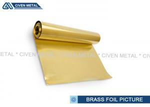 China Bright 0.01mm 0.02mm 0.5mm Brass Foil , metal Alloy Foil for Decorative Objects on sale