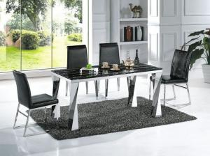 modern black marble rectangle dining table with chairs dining rh liying sell everychina com