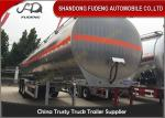 China 55CBM Three Axles Fuel Tanker Semi Trailer Aluminum alloy / Carbon Steel Body wholesale