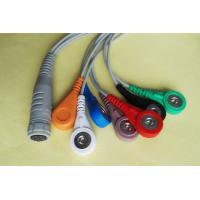 China Grey 7 Lead ECG Trunk Cable Rozinn ECG Cable With Snap Patient End on sale