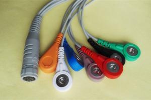 China Cable de Rozinn ECG del cable del tronco de la ventaja ECG del gris 7 con el extremo paciente rápido on sale