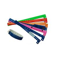 China PVC Plastic Identity Recognition Wristbands , Plastic Bracelets For Events Logo Printed on sale