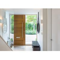 Double Swing Outdoor Solid Wood Door With Tempered Clear Glass Inserts