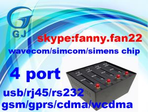 China Wavecom 4 Port GSM Modem Pool with sim cards for Bulk SMS Services on sale