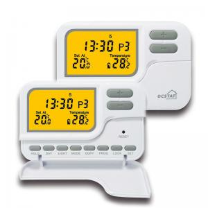 China Water Control System Floor Heating Boiler Room Thermostat , Programmable HVAC Thermostat on sale