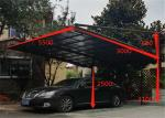 Garage Carport with Aluminium Alloy Frame and UV Coated Polycarbonate Sheet