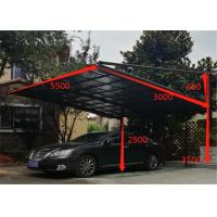 China Garage Carport with Aluminium Alloy Frame and UV Coated Polycarbonate Sheet on sale