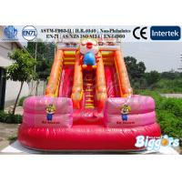 Cartoon Inflatable Water Slip Slide Pool With Climber for Rental
