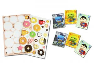 China 3 Mm Thickness 3D Puffy Stickers , Cartoon Shapes Cute Puffy Stickers on sale