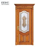 Apartment Solid Wood Internal Doors , Artificial Interior Solid Wood Slab Door