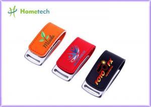 China Customer Logo Leather USB Memory Stick Flash Drive Pendrive 16GB 32GB 64GB on sale