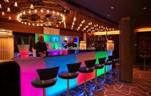 Quality Nontoxic and Peculiar smell LED Lighting Furniture for Bars & bar table for sale