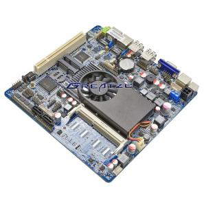 China I5 MINI ITX Motherboard 3317U CPU Mainboard Wide Voltage 8V - 36V 6 COME With PCI on sale