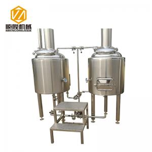 China 1BBL Pilot Professional Beer Brewing Equipment Malt Mill 100L With Brew Kettle on sale
