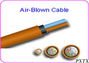China High Density 24 - 144 Core Air Blown Fiber Optic Cable For Outdoor FTTH on sale