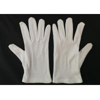 Inspection Protective Cotton Work Gloves Heavy Weight Men