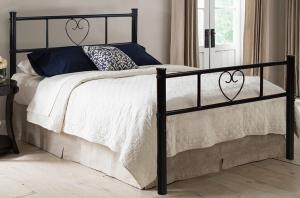 China Black Single Metal Frame Bed of Love For Kid / Adult Solid Structure 77.9'' X 35.8'' X 34.8'' Size on sale