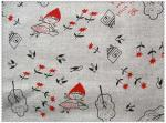 55/45 LINEN COTTON  FABRIC BLENDED WITH SCREEN PRINTED   CWT #1515