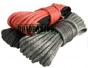 China Synthetic winch rope 4x4 winch rope 28m*8mm,10mm,12mm water board winch line on sale