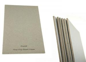 Quality Book cover Folding Resistance 3mm Gray Chip Board Paper Hard Stiffness for sale