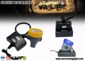 China IP68 Waterproof High Lumen Hard Hat Light Rechargeable 3mm Toughened Glass on sale