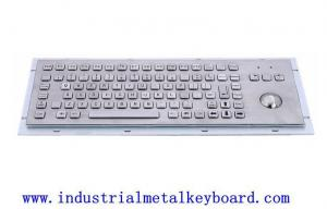 China IP65 Illuminated Metal Keyboard Vandal Resistant With Trackball on sale