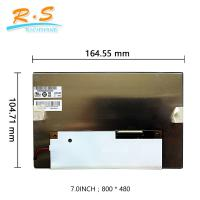 7 inch  Auto LCD Screen , industrial display lcd screen panel G070VVN01.2 800x480