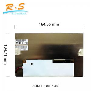 China 7 inch  Auto LCD Screen , industrial display lcd screen panel G070VVN01.2 800x480 on sale