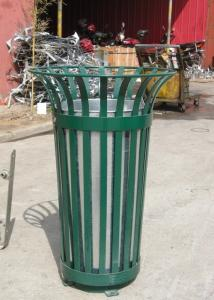 China Galvanized / Powder Coat Metal Trash Bin Commercial Rubbish Bins on sale