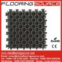 China Interlock PVC Tiles Floor Mat PVC Flooring Mat for Entrance or Wet Areas Stop dirt Drain Water Mat on sale