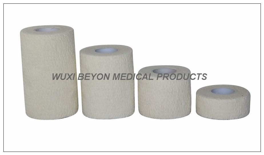 Elastic White Color Cotton Elastic Bandage Self Adhesive Hand Tear
