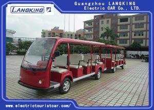 China University / School Electric Tourist Car 14 Seats + 11 Seats Trailer Battery 6v*12pcs on sale