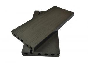 China Black Solid WPC Composite Decking 135 x 25mm For Playground / Corridor on sale