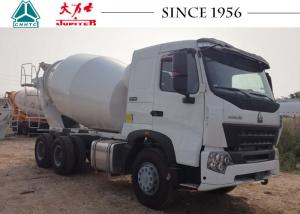 China Durable HOWO Concrete Mixer Truck Smooth Operation With 380 Hp Euro IV Engine on sale
