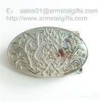 Imitation silver engraved belt buckle for men, silver belt buckles