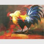 Decorative Palette Knife Animal Oil Painting Hand Painted Cock Canvas Art Painting