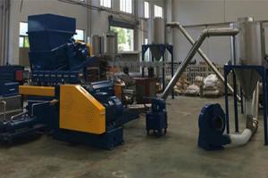 China Granules PVC pelletizing granulator Air cooling hot cutting granulation machine on sale