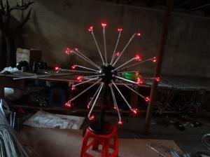 China 25 stems Multi LED Christmas decorative fireworks floor lights for holiday/wedding decor on sale